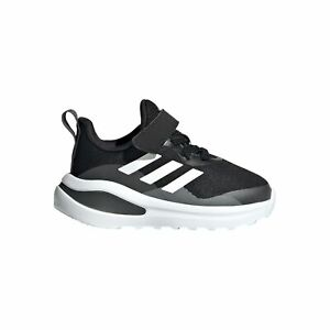 adidas FortaRun Infant Kids Sports Trainer Shoe Black/White/Grey