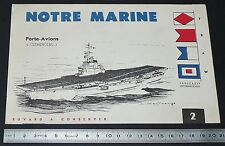 BUVARD 1960 MARINE NATIONALE PORTE-AVIONS CLEMENCEAU ILLUSTRATEUR HAFFNER