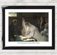 Framed Art Print Signing the Register by Edmund Blair Leighton Wedding Gift 014