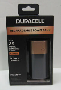 Duracell Rechargeable Powerbank 6700 mAh for Apple Android Most USB Powered Dvcs
