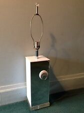 "MID CENTURY MODERN LUCITE MIRRORED TABLE LAMP VINTAGE RETRO 35"" TALL WORKS RARE"