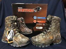 "NIB Herman Survivors 8"" Realtree Waterproof Insulated Hunting Hiking Boots 8W"