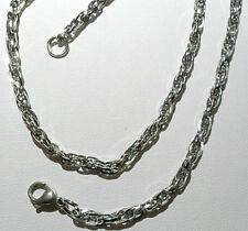 "20"" Stainless Steel 4mm twisted singapore chain necklace"