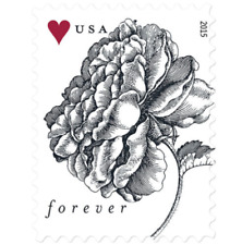 100 Stamps (5 Sheets of 20) USPS Forever Vintage Rose Postage Stamp - MNH 2015