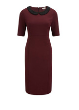 CC Country Casuals Berry Beaded Collar Dress Size UK 18 Dh088 DD 09