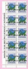 CANADA 1978 English Margin Block of 10 - 1c. FLOWER DEFINITIVE - Precancels  MNH