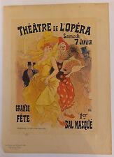 Jules Chéret affiche poster Théâtre Opéra Bal masqué 19ème siècle
