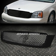 FOR 00-05 CADILLAC DEVILLE BLACK FRONT BUMPER FRAME DIAMOND MESH GRILL COVER