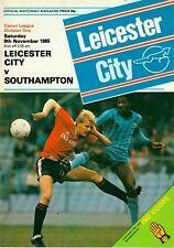Leicester City v Southampton 1985-86