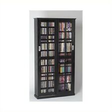 "Leslie Dame 62"" CD DVD Wall Media Storage Cabinet in Black"