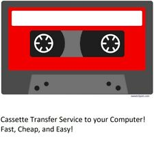 Fast Audio Cassette Transfer Service to your computer! Download via Google Drive