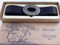 Portland Vintage Black Rugby Belt Beer Opener Buckle Men Present Gents Gift