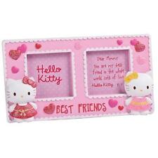 Cadre photo hello kitty double photo avec 3D chats 6 x 6cm best friends