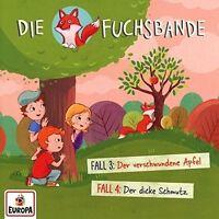 DIE FUCHSBANDE - 002/FALL 3: DER VERSCHWUNDENE APFEL + FALL 4   CD NEU