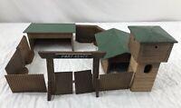 Vtg Fort Kenty Lundby Wooden Playset Toy West Germany Cowboy Ft Wild Western 50s