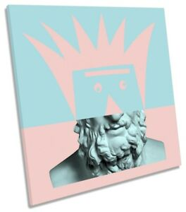 Statue Modern Pop Art Print CANVAS WALL ART Square Picture Pink