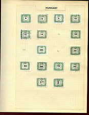 Hungary Postage Dues Album Page Of Stamps #V5462