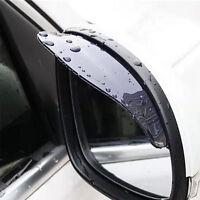 2pcs Black Car Rearview Mirror Rain Water Rainproof Eyebrow Cover Side Shield SK