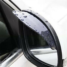 Black Car Rearview Mirror Rain Water Rainproof Eyebrow Cover Side Shield New