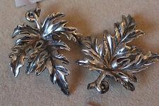 Decorazioni Albero Di Natale 2 GRANDI DA PARETE 'ANTICO' ARGENTO Sycamore forma