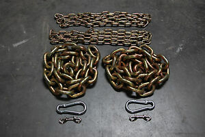 """Weight Lifting Chain Package - 31.2 lbs - 1/2"""" Power Lifting - Crossfit Gym"""