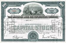 USA LOUISIANA LAND & EXPLORATION COMPANY stock certificate RARE