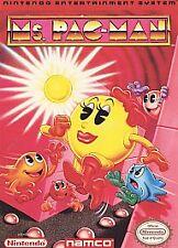 MS PACMAN PAC MAN NAMCO ORIGINAL NINTENDO GAME CLASSIC SYSTEM NES