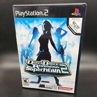 Dance Dance Revolution SuperNova 2 Sony PlayStation 2 PS2 Complete w/ Manual