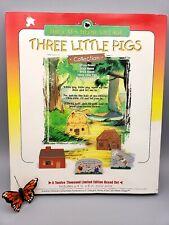 Cat's Meow Village Three Little Pigs Limited Edition Set Unused Complete 1997 ed