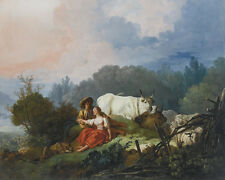 Pastoral Landscape With A Shepherd And Shepherdess At Rest Jean Fragonard CANVAS
