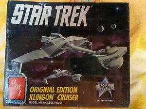 AMT STAR TREK Original Edition Klingon Cruiser Model Kit Factory Sealed