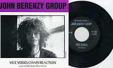 "John Berenzy Group - Vice Verses / Chain Reaction 7"" 20/20 NYC New Wave Punk KBD"