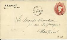 Canada postal envelope HG:B12 St PIE QUE. FE/5/00 to Montreal, backstamped
