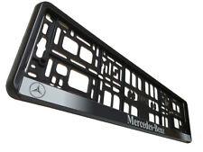 Black Classic Mercedes European Euro License Number Plate Holder Frame German EU