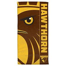 Hawthorn Hawks Team Logo Beach Towel | AFL Football |  AFL Aussie Rules