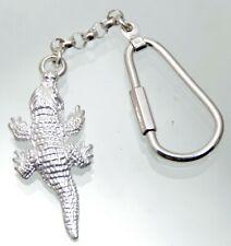 Schlüsselanhänger Taschenanhänger Krokodil Anhänger 925 Silber Sterling