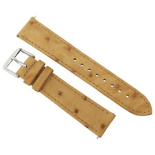 Hadley Roma 20 MM Matte Light Camel Ostrich Leather Strap 20OS12M