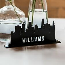 Personalized Industrial Cityscape Acrylic Wedding Table Decoration