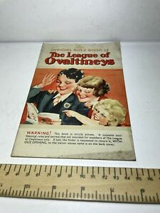 Vintage Rule Book The League Of Ovaltineys