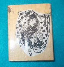 Nude dancer rubber stamo exotic travel Rubber Poet wood mounted art stamps lady