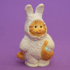 Hallmark Merry Miniatures Easter 1995 Cameron Bunny Qsm8029 Cat Kitty