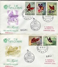 SAN MARINO 1963 BUTTERFLIES/NATURE/ANIMALS/INSECTS/INACHIS/NYMPHALIS/NESSAEA FDC