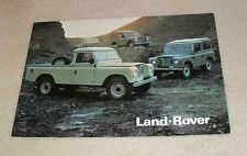LAND Rover BROCHURE 1979 - 88 + SWB & LWB 109 Inc STATION WAGON