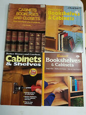Bookshelves, Cabinets and Shelves Books DIY Woodworking Home Improvement LOT 4