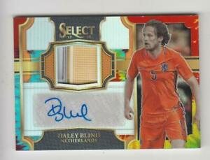 2017-18 Panini Select Soccer Jersey Auto card :Daley Blind #21/30