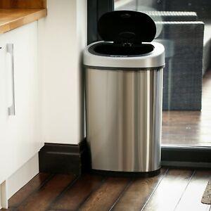 50L Touch-free Waste Rubbish Sensor Bin Grade B Used
