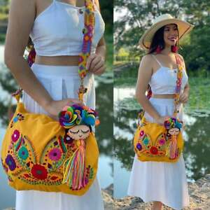 Traditional Embroidered Bag with Tassels. Hand Embroidered Floral Bag
