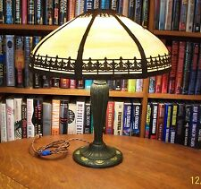 Antique A & R Bent Slag Glass Lamp Miller Bradley & Hubbard Pittsburgh Handel