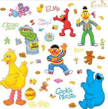 Sesame Street wall stickers ELMO BIG BIRD COOKIE MONSTER BERT ERNIE 45 decals