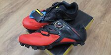 Mavic Crossmax Elite Red Black MTB mountain bike cycling shoes US 8 EU 41 1/3